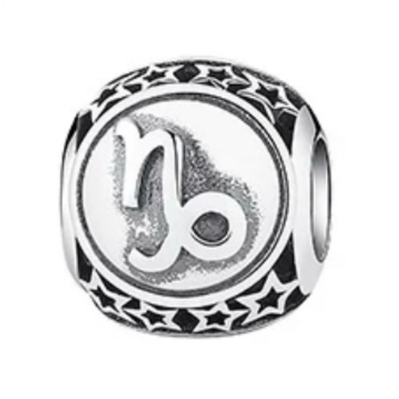 Charm zodíaco Capricornio de plata de primera ley vintage. Compatible Pandora 791945