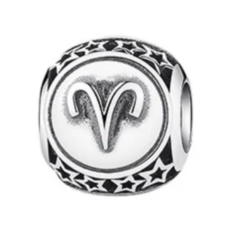 Charm zodíaco Aries de plata de primera ley vintage. Compatible Pandora 791936