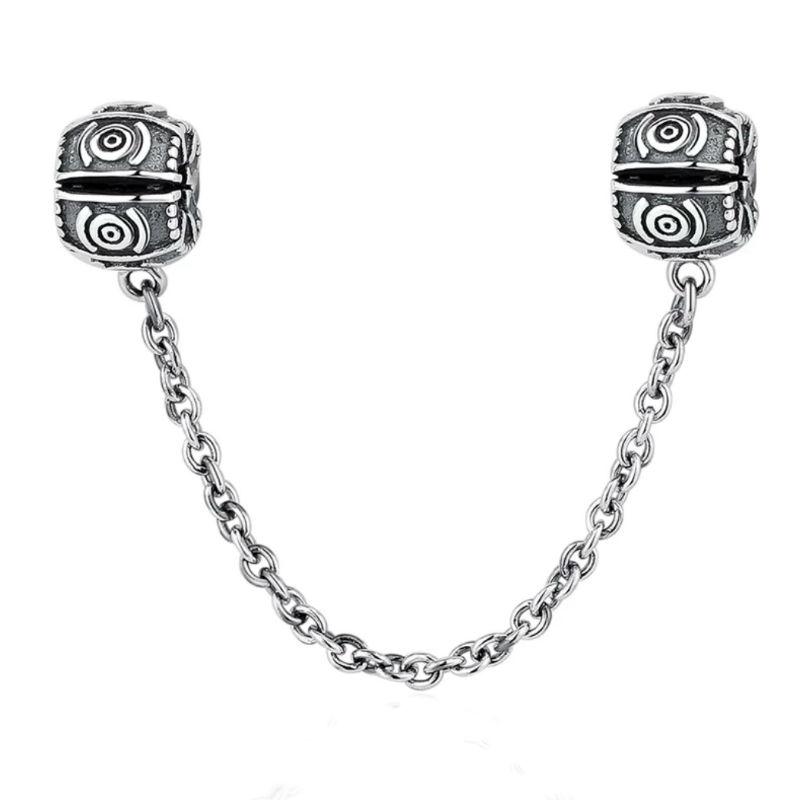 Charm clip en plata de ley vintage. Compatible Pandora