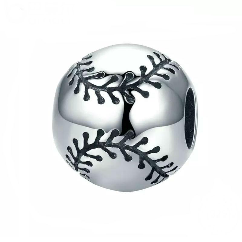 Charm pelota de béisbol en plata de ley. Compatible Pandora